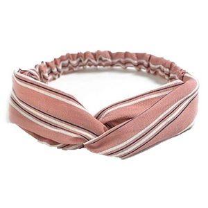 Accessories - Boho Pink Stripe Twist Headband